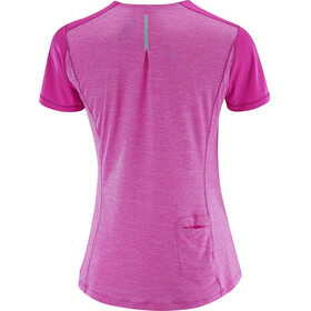 Salomon Agile SS Shirt Women rose violet/super pink